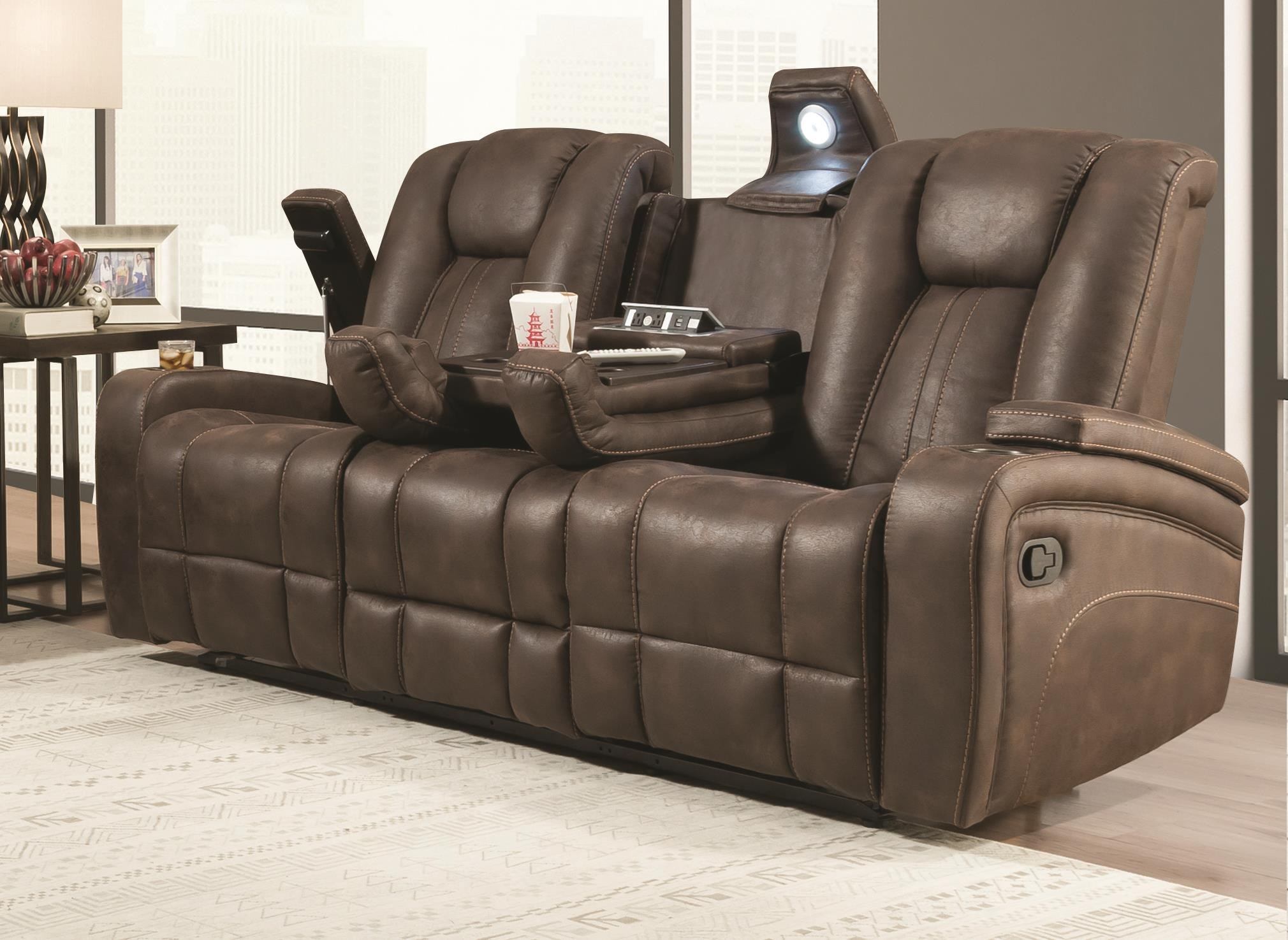 Jantzen Dual Reclining Sofa by Behold Home at Darvin Furniture