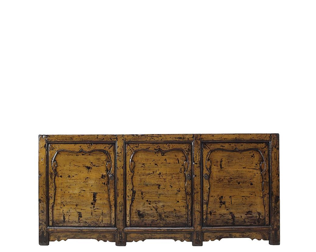 Antiques 3 Door Cabinet by C.S. Wo & Sons at C. S. Wo & Sons Hawaii