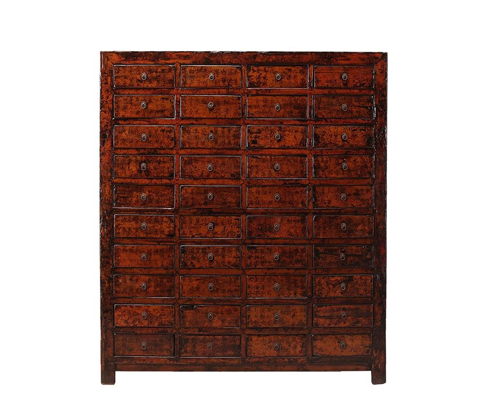 Antiques Cabinet with Drawers by C.S. Wo & Sons at C. S. Wo & Sons Hawaii
