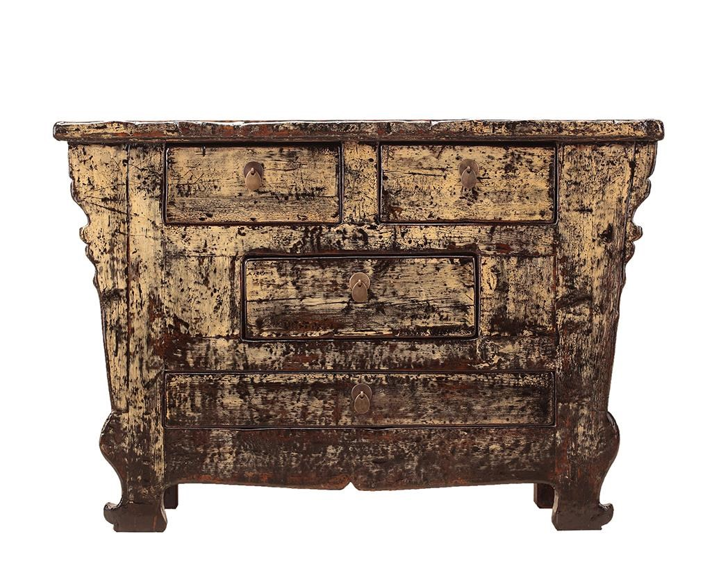 Antiques 4 Drawer Cabinet by C.S. Wo & Sons at C. S. Wo & Sons Hawaii