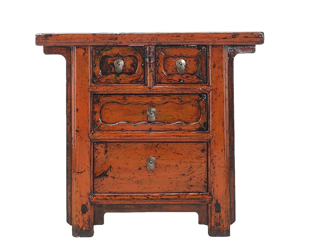 Antiques 4 Drawer Cabinet by C.S. Wo & Sons at C. S. Wo & Sons California