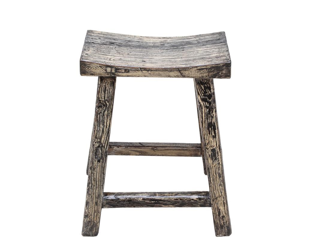 Antiques Stool by C.S. Wo & Sons at C. S. Wo & Sons California