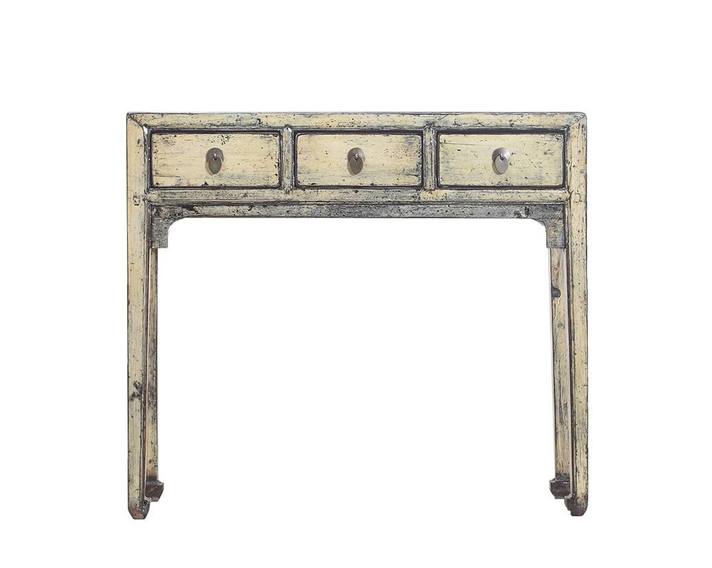 Antiques 3 Drawer Table by C.S. Wo & Sons at C. S. Wo & Sons California