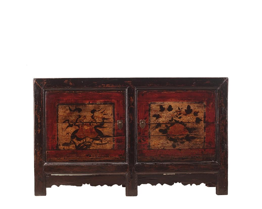 Antiques 2 Door Cabinet by C.S. Wo & Sons at C. S. Wo & Sons California