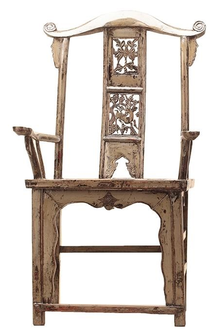 Antiques Official Hat Arm Chair by C.S. Wo & Sons at C. S. Wo & Sons California