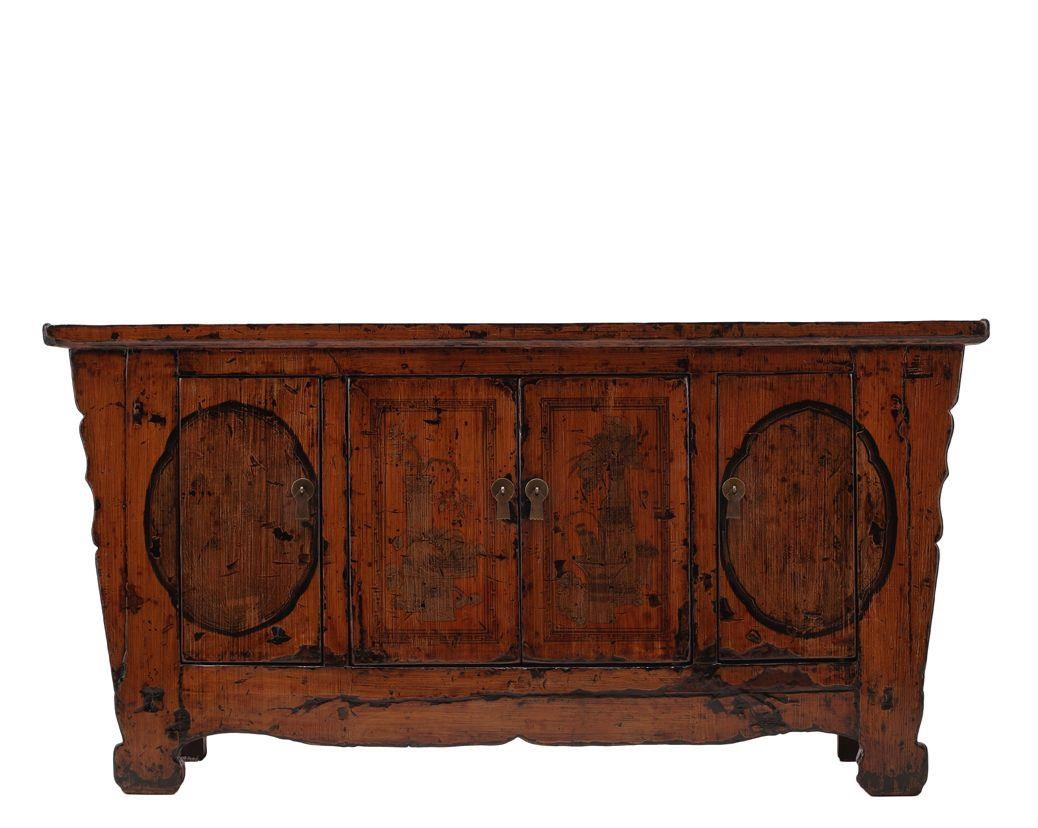 Antiques 4 Door Cabinet by C.S. Wo & Sons at C. S. Wo & Sons Hawaii