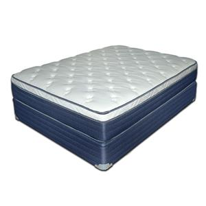 "King 12 1/2"" Euro Top Mattress and Blue Foundation"