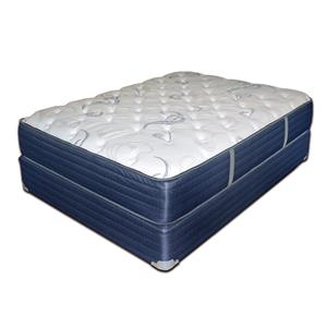 "King 12 1/2"" Plush Mattress and Blue Foundation"