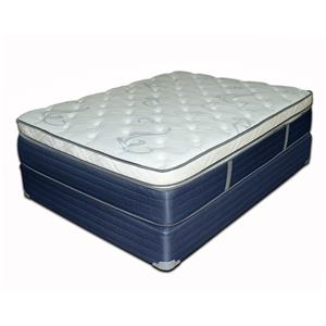 "Twin 15"" Box Top Mattress and Blue Foundation"