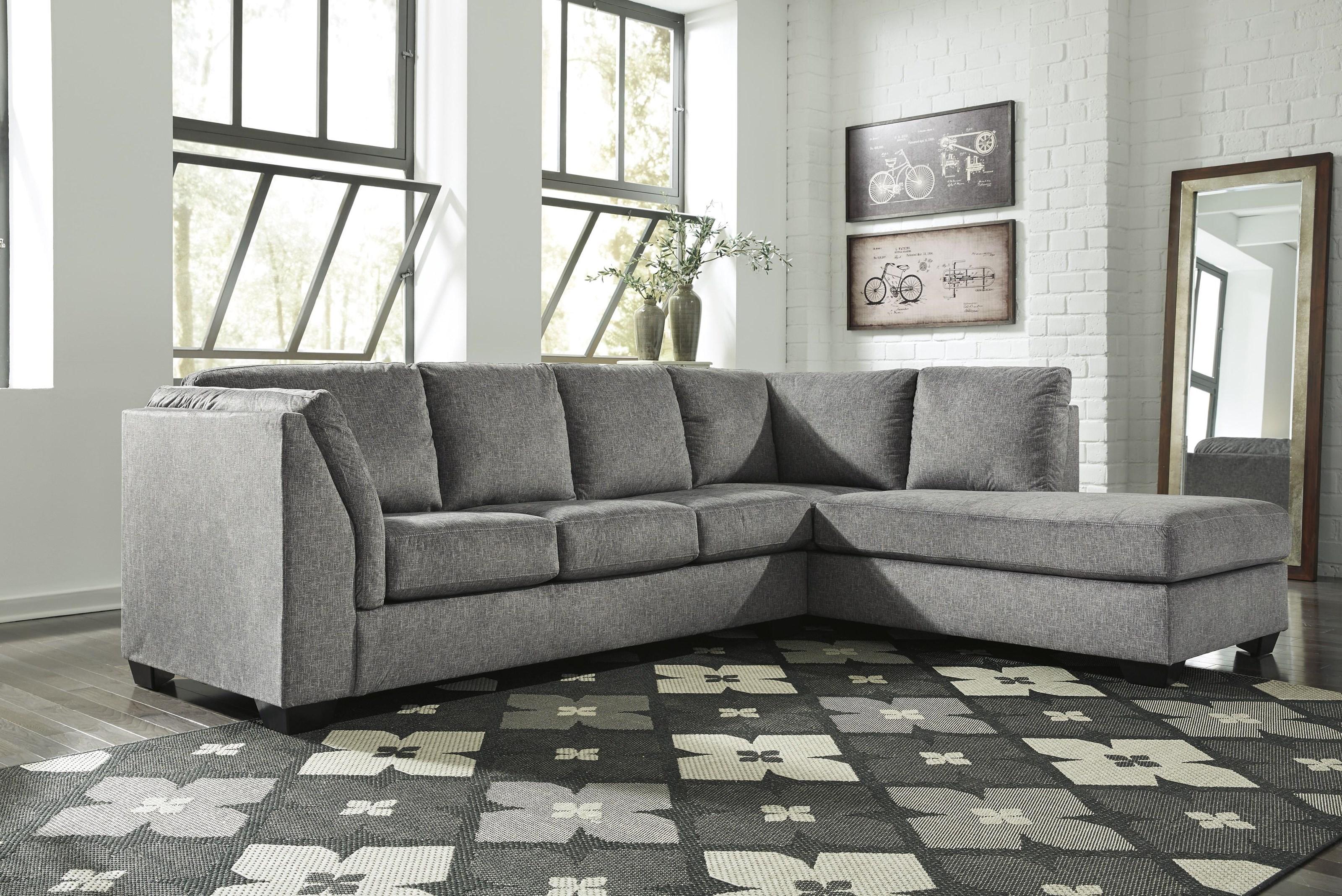 Belcastel RAF Corner Chaise + LAF Sofa by Benchcraft at Westrich Furniture & Appliances