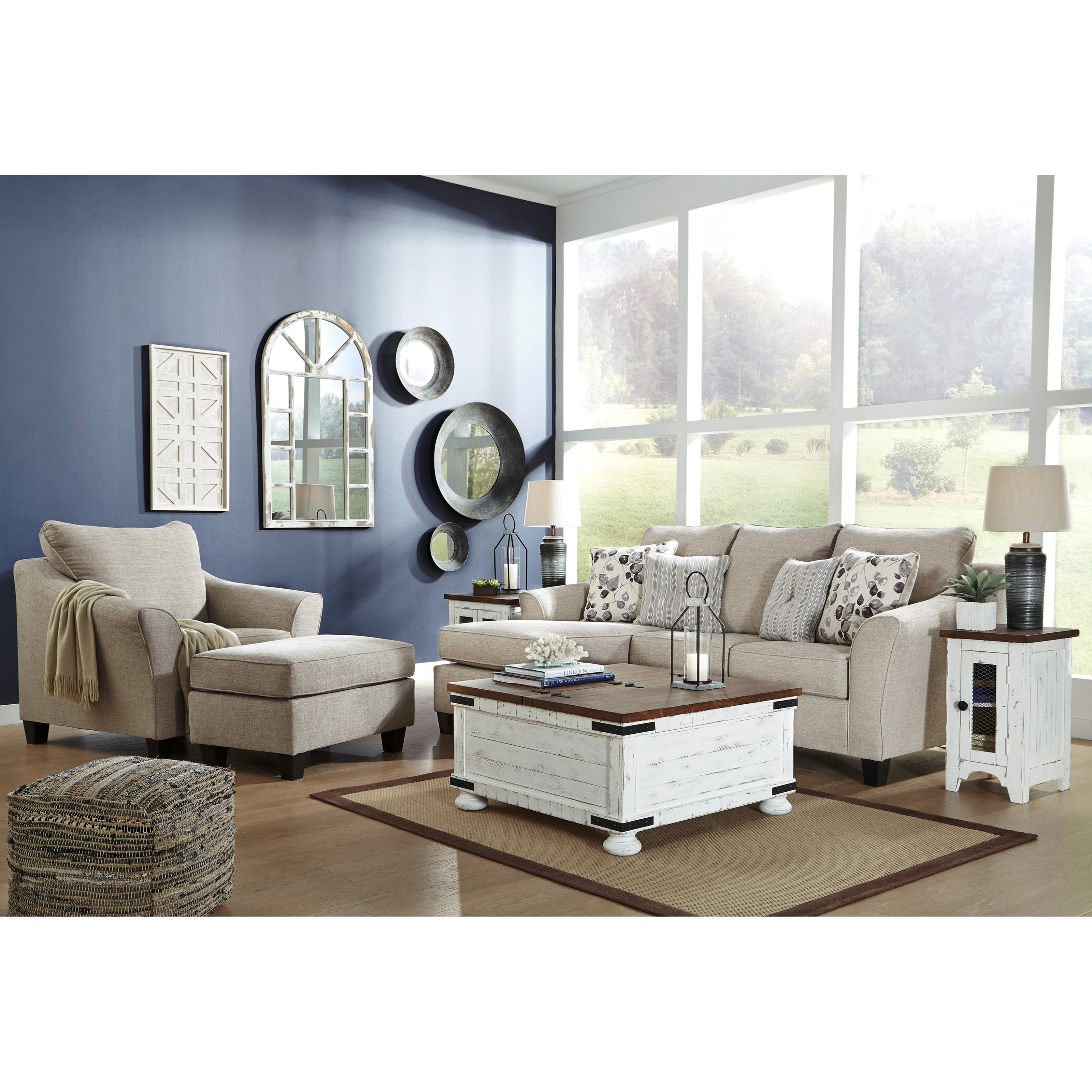 Abney Stationary Living Room Group at Sadler's Home Furnishings