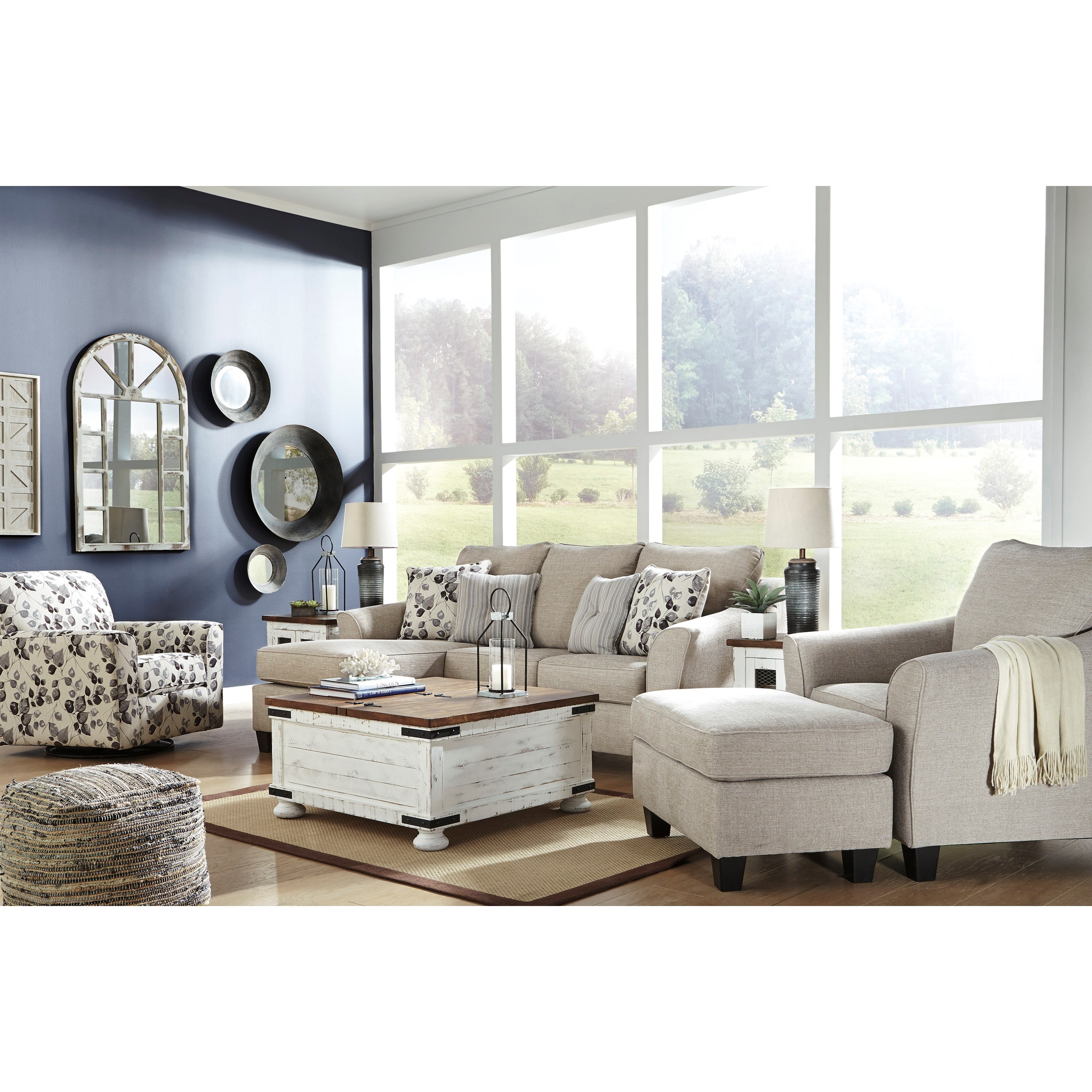 Abney Stationary Living Room Group by Benchcraft at Furniture Superstore - Rochester, MN