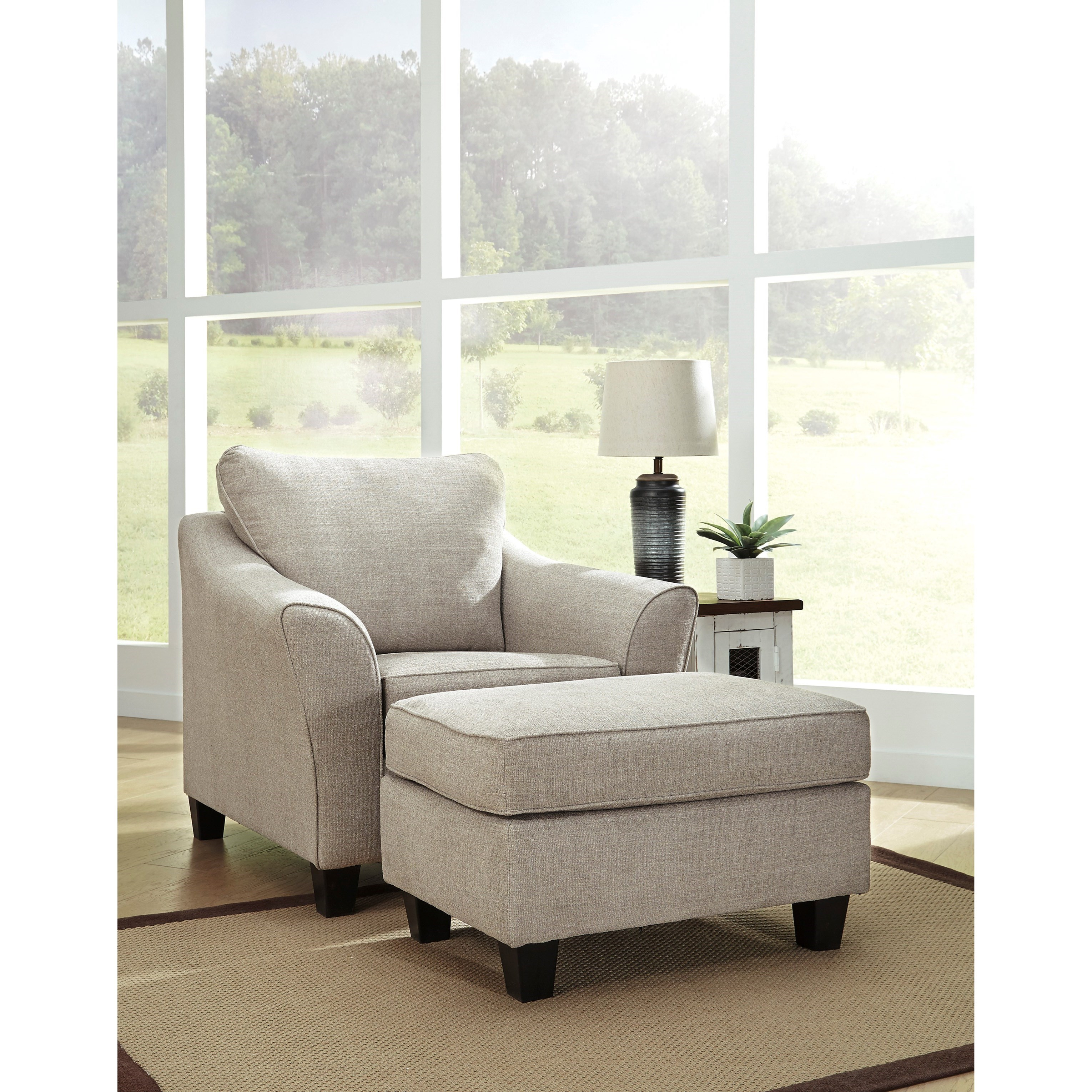 Abney Chair and Ottoman by Benchcraft at Catalog Outlet