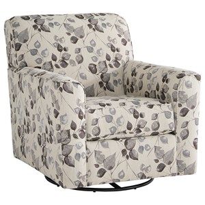 Swivel Accent Chair with Track Arms