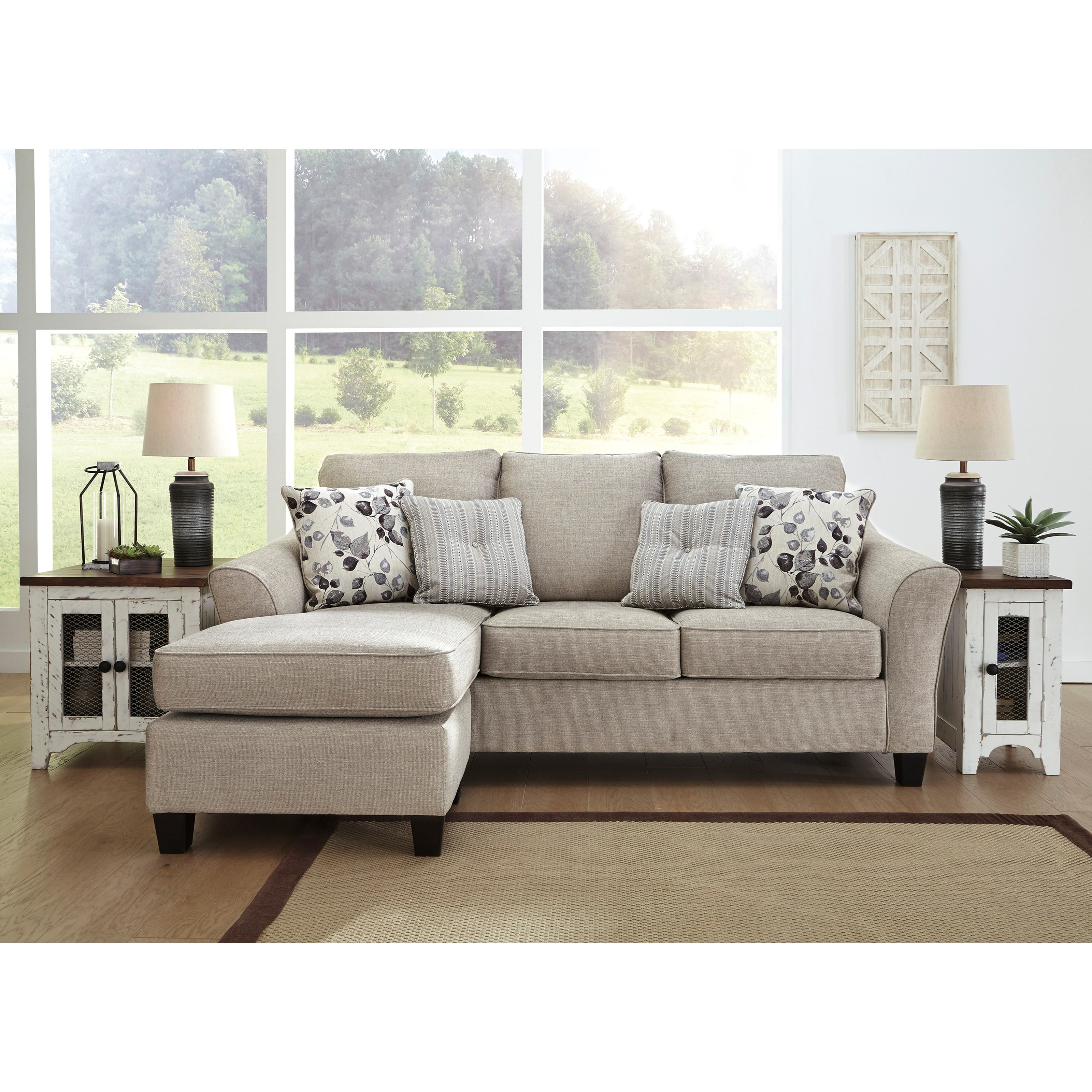 Abney Sofa Chaise Queen Sleeper by Benchcraft at Fisher Home Furnishings
