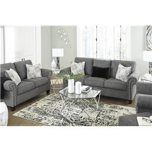 Charcol Sofa, Loveseat, Chair and Ottoman Set
