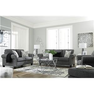 Charcol Sofa, Chair and Ottoman Set