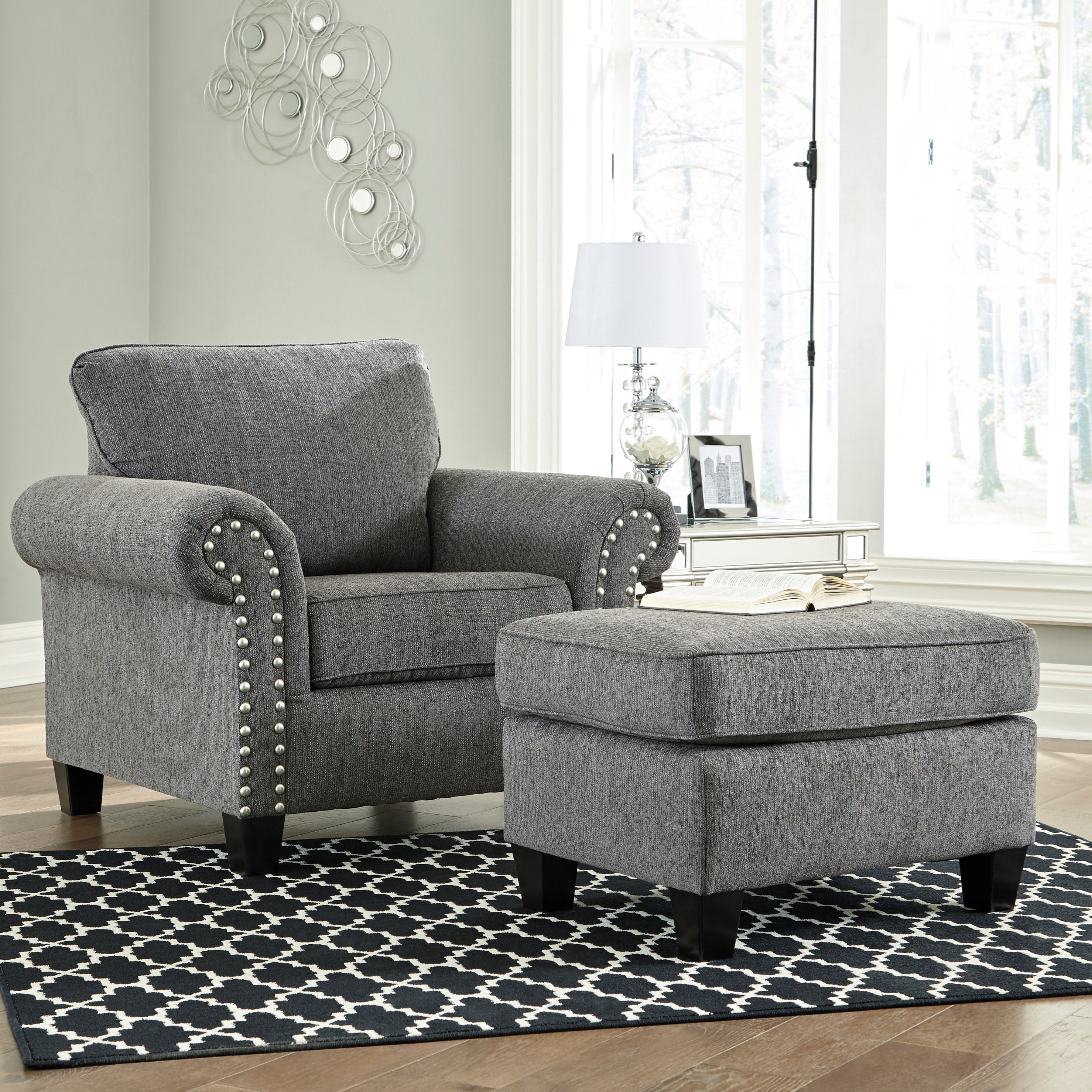 Agleno Chair and Ottoman by Benchcraft at Standard Furniture