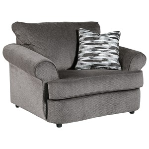 Chair and a Half in Gray Fabric