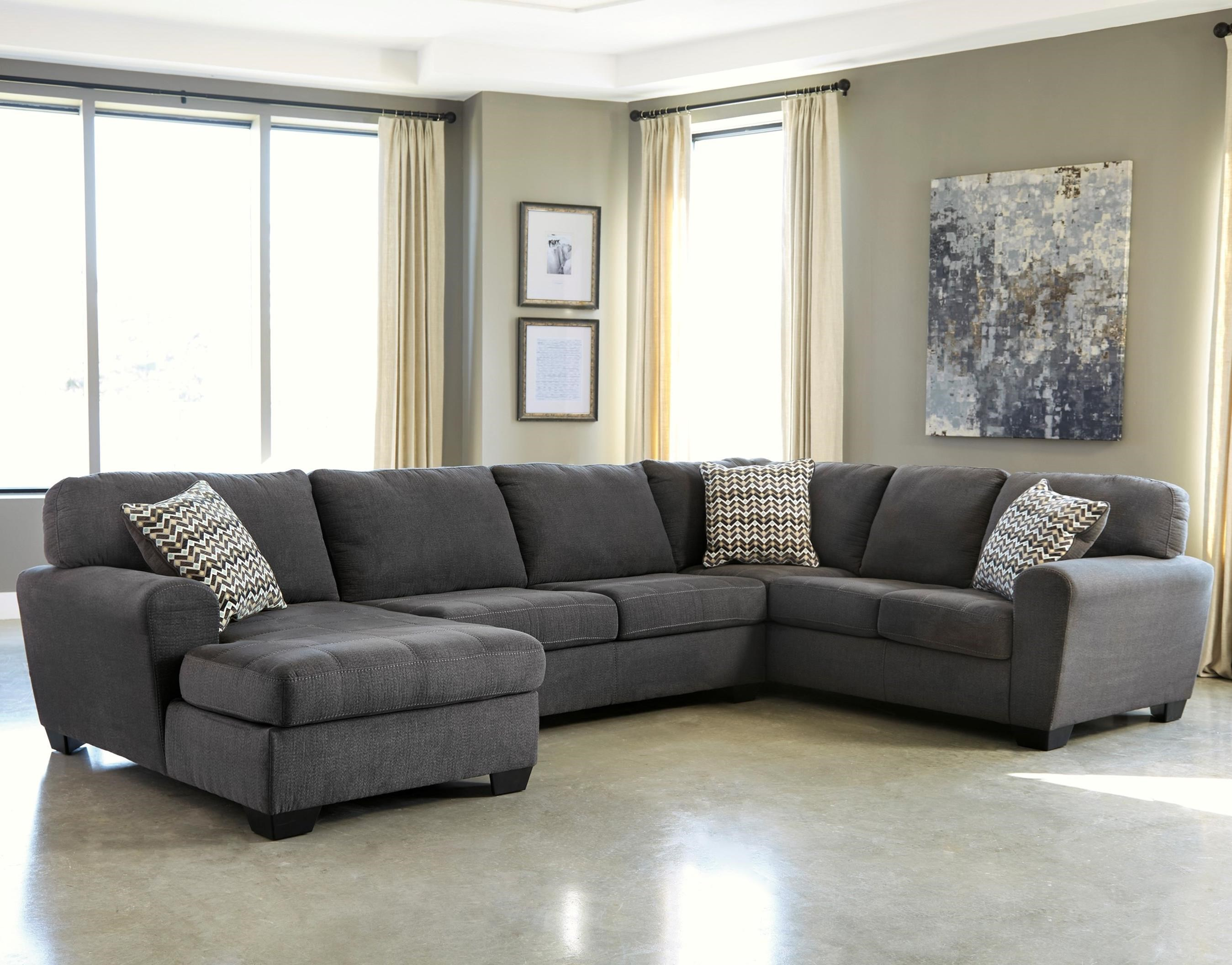 Ambee 3-Piece Sectional with Chaise by Benchcraft at Standard Furniture
