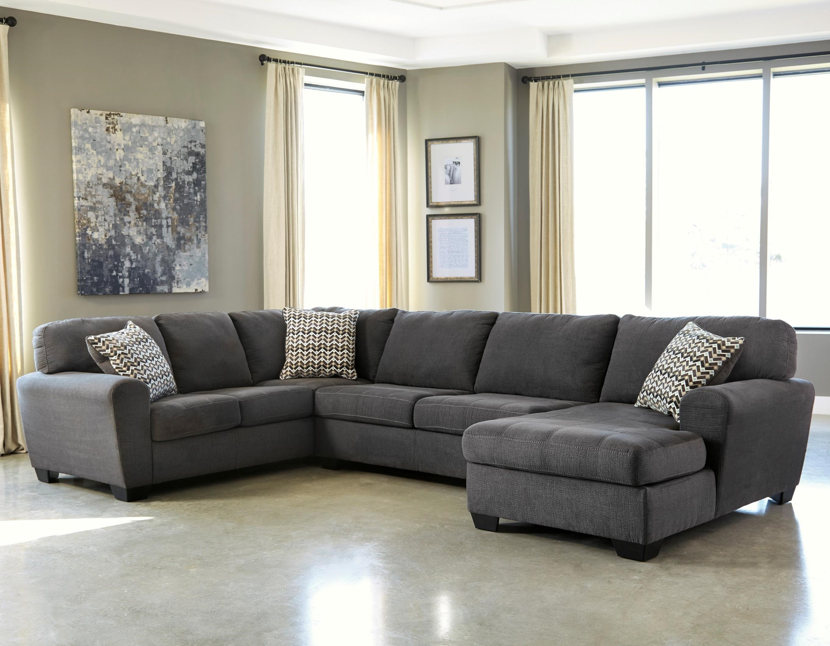 Ambee 3-Piece Sectional with Chaise by Benchcraft at Zak's Home Outlet