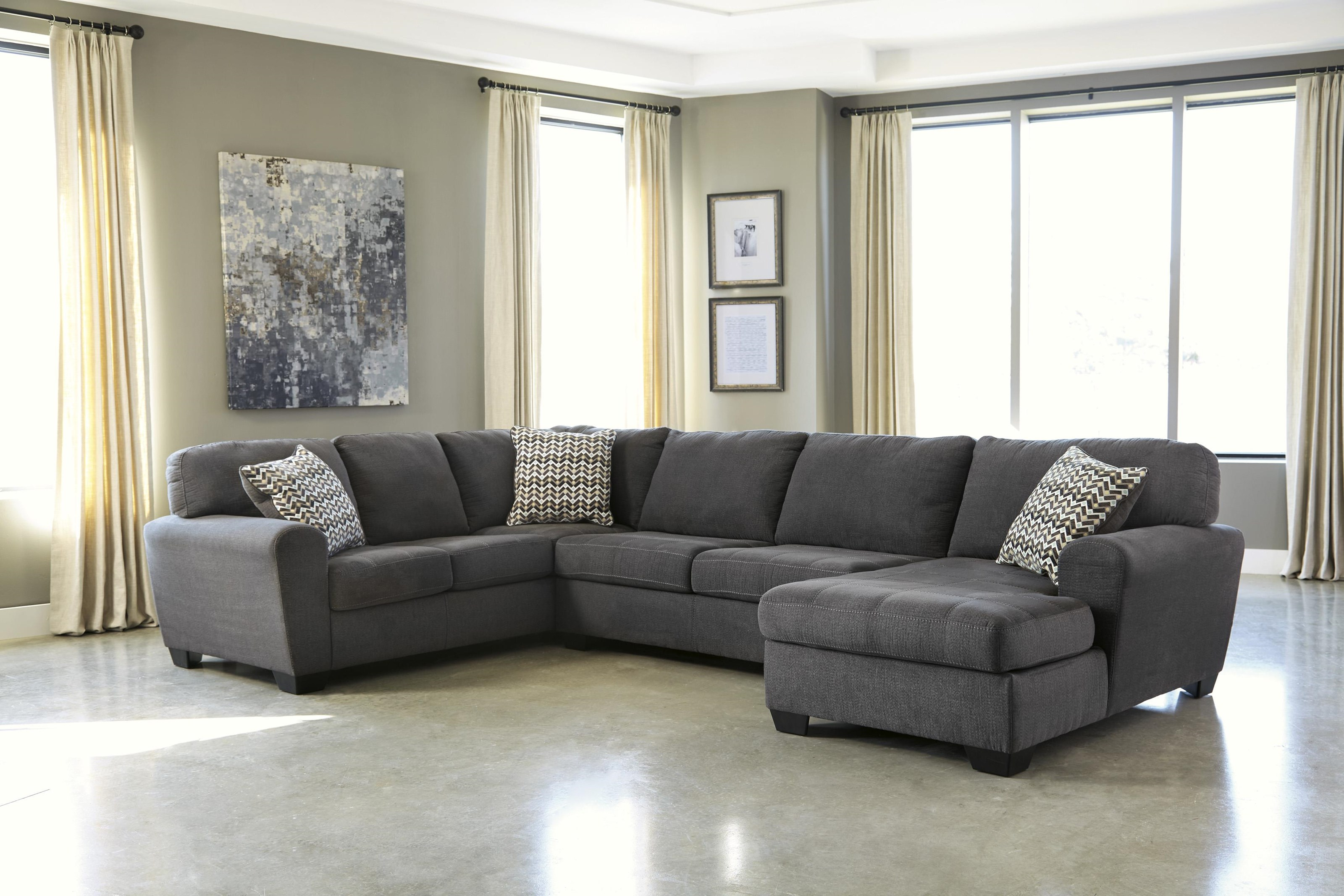 3 Piece Chaise Sectional ofa
