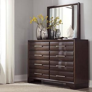 Contemporary Dresser & Bedroom Mirror