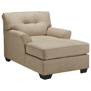 Casual Two-Arm Chaise with Tufted Back