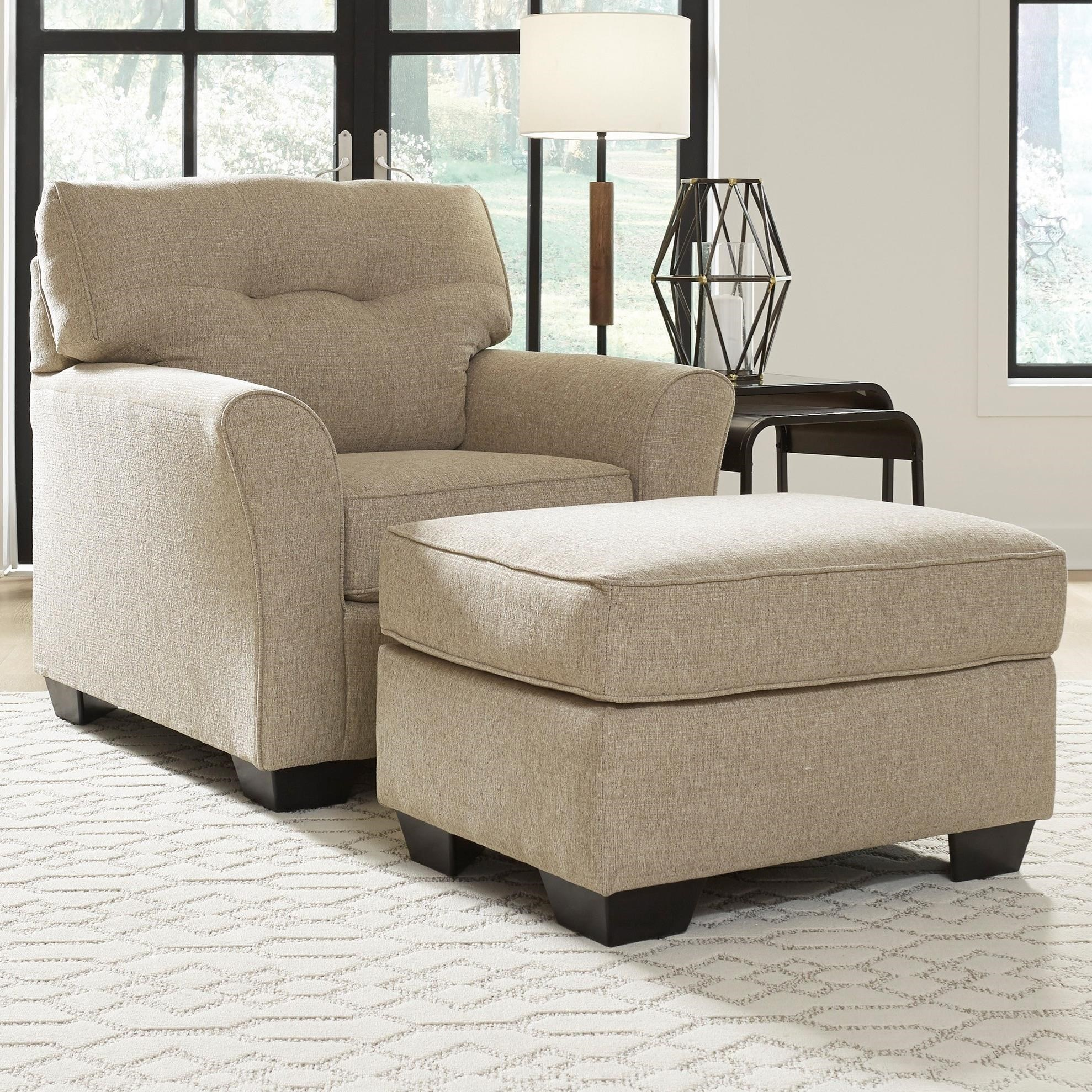 Ardmead Chair & Ottoman by Benchcraft at Lapeer Furniture & Mattress Center