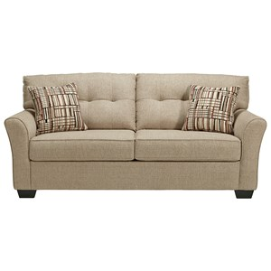 Casual Sofa with Tufted Back Cushions
