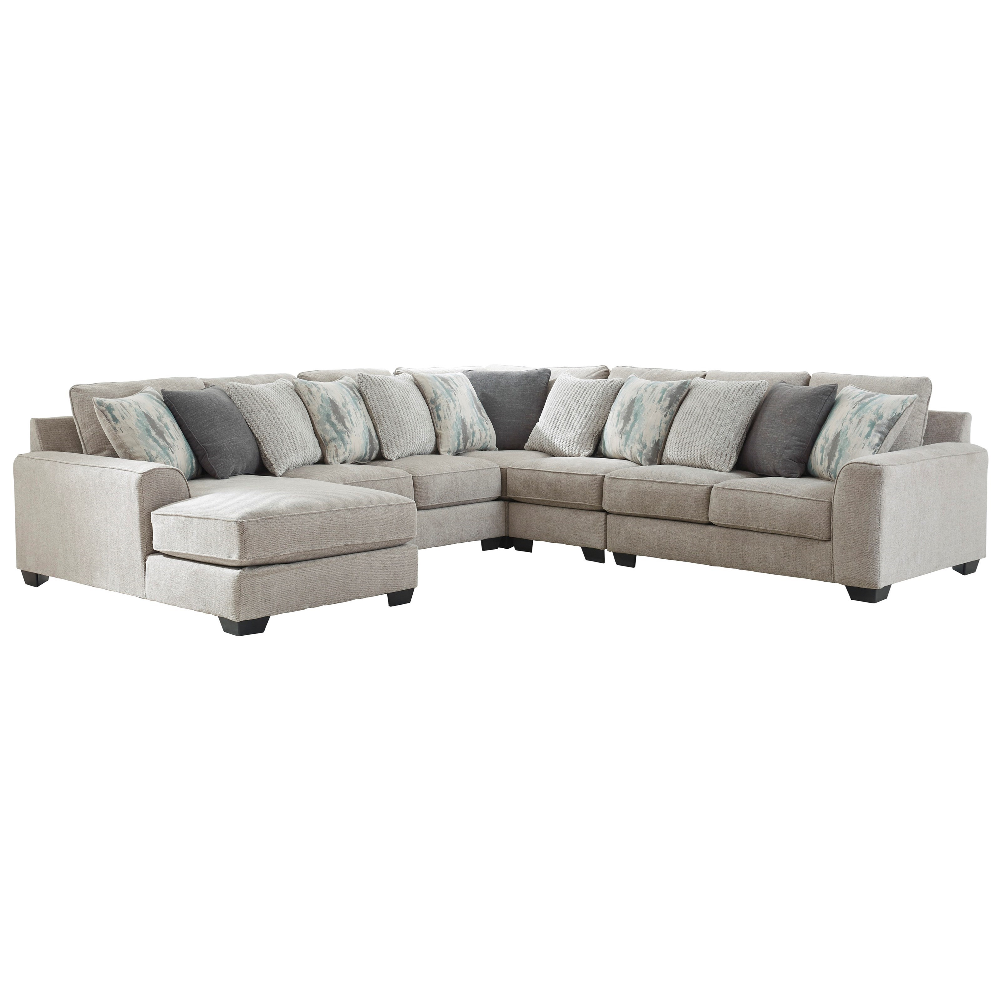Ardsley 5-Piece Sectional with Left Chaise by Benchcraft at Lapeer Furniture & Mattress Center