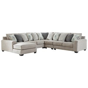 5-Piece Sectional with Left Chaise