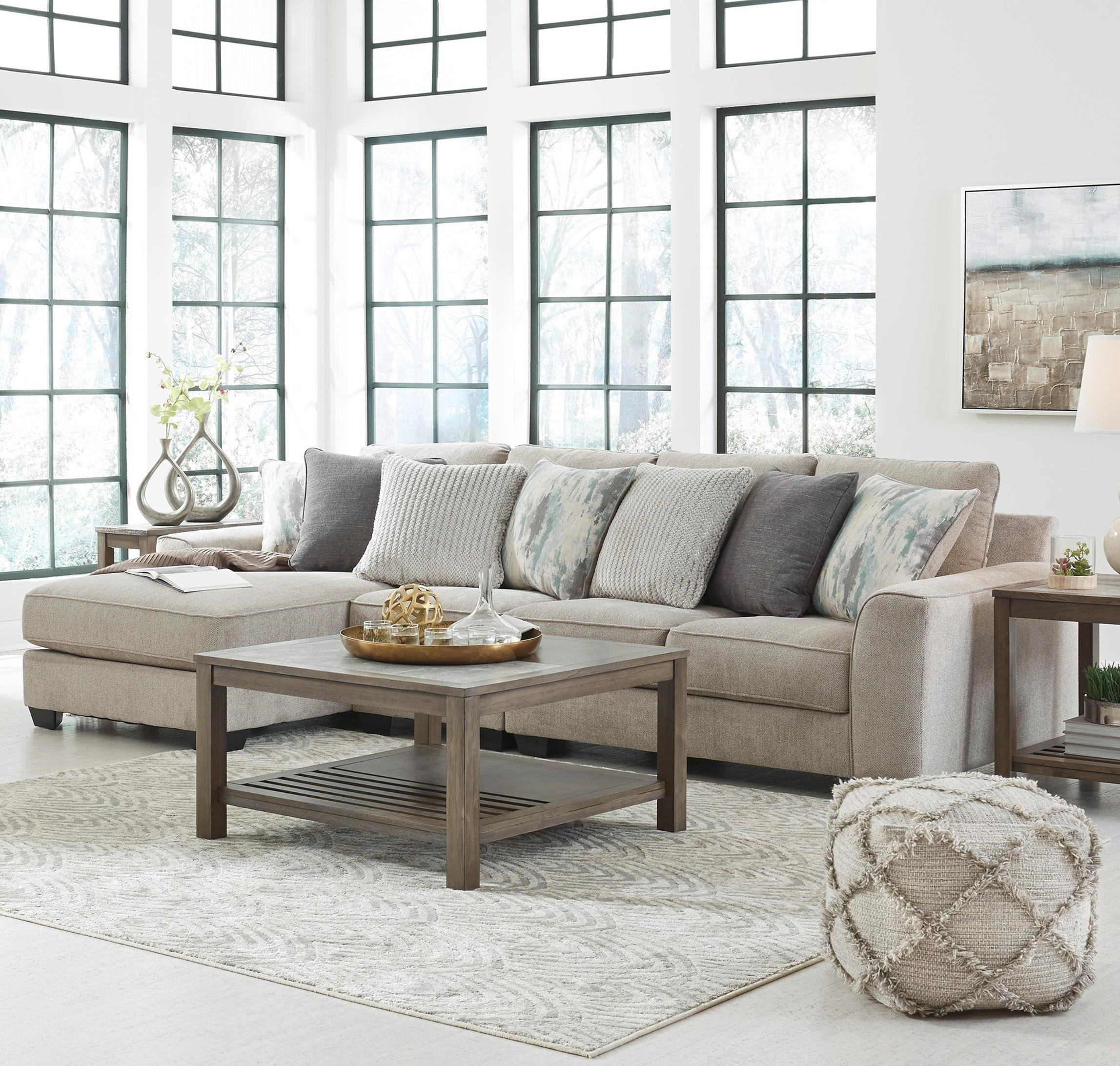 Ardsley 3-Piece Sectional with Left Chaise by Benchcraft at Fisher Home Furnishings