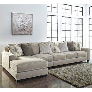 Contemporary 3-Piece Sectional with Left Chaise