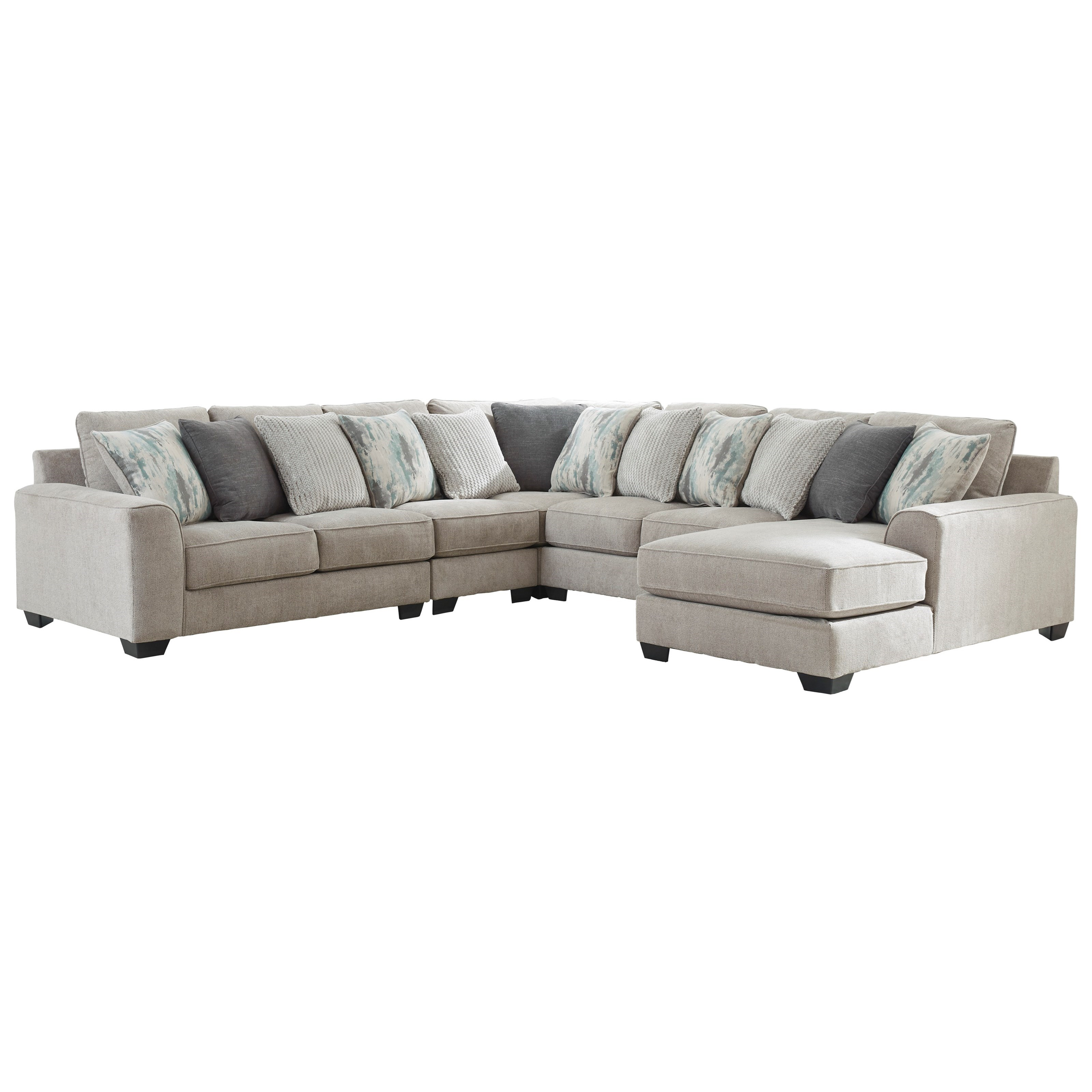 Ardsley 5-Piece Sectional with Right Chaise by Benchcraft at Home Furnishings Direct