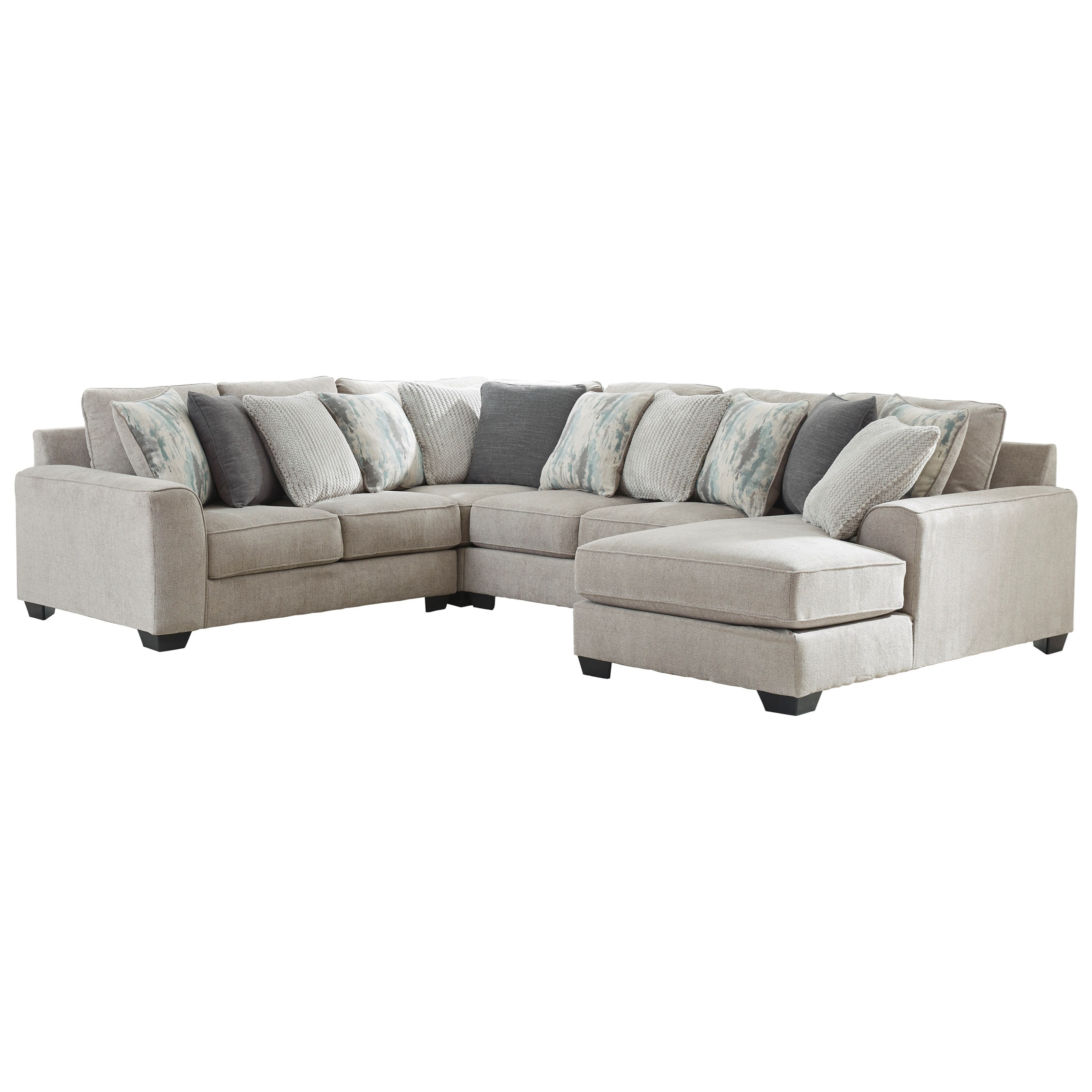 Ardsley 4-Piece Sectional with Right Chaise by Benchcraft at Walker's Furniture