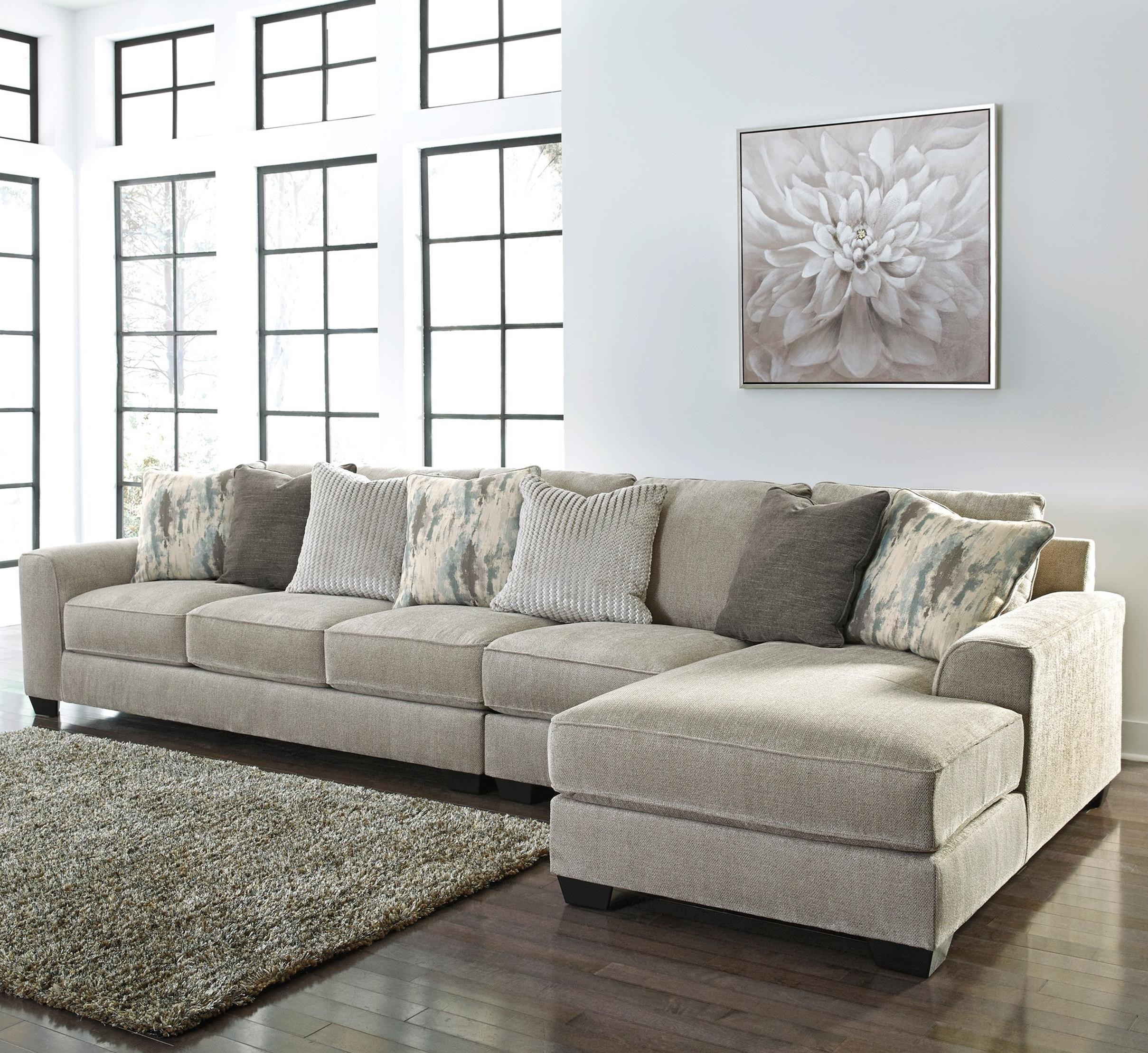 Ardsley 3-Piece Sectional with Right Chaise by Benchcraft at Miller Waldrop Furniture and Decor