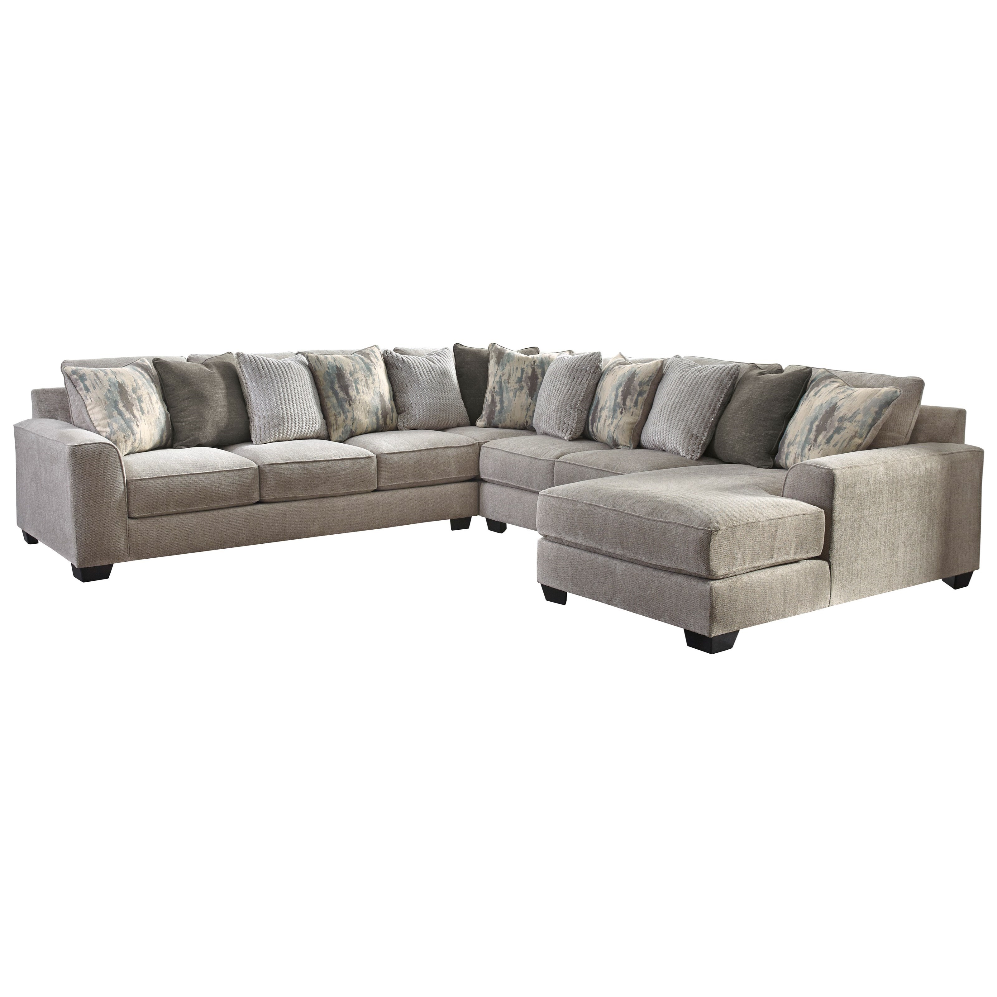 Ardsley 4-Piece Sectional with Right Chaise by Benchcraft at Home Furnishings Direct