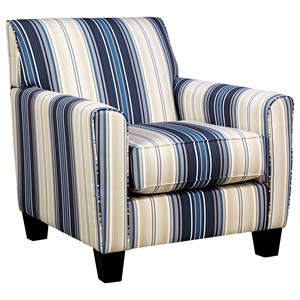 Contemporary Accent Chair in Performance Fabric