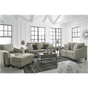 Platinum Sofa, Chair and Ottoman Set