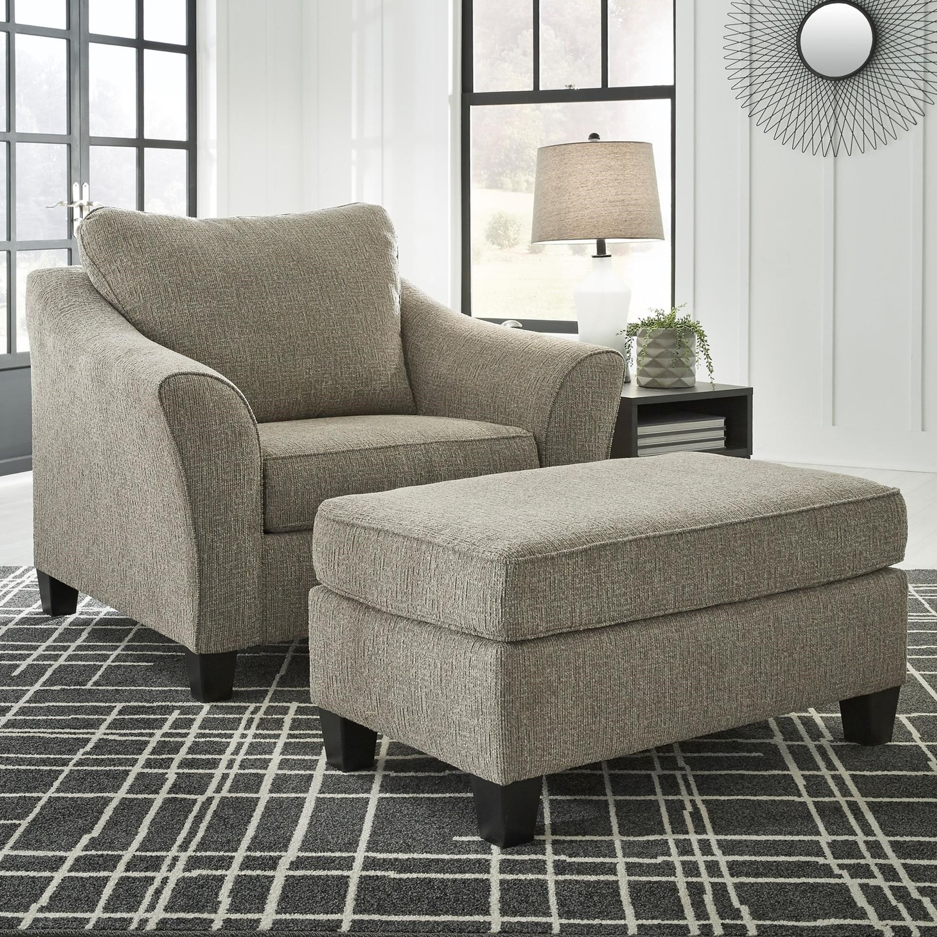 Barnesley Chair and a Half & Ottoman by Benchcraft at Standard Furniture