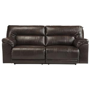 Bonded Leather Match 2 Seat Reclining Power Sofa