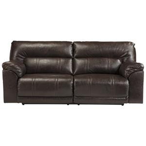 Bonded Leather Match 2 Seat Reclining Sofa