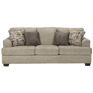Contemporary Queen Sofa Sleeper with Flared Arms