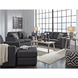 Indigo Sofa, Chair and Ottoman Set