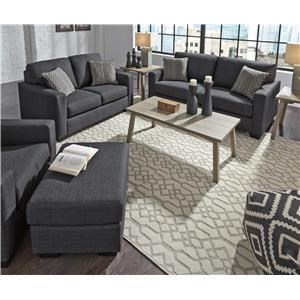 Indigo Sofa, Loveseat, Chair and Ottoman Set