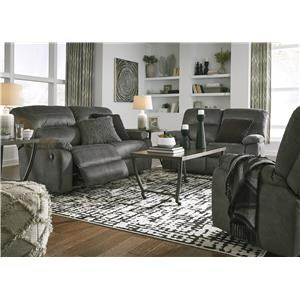 Slate Recliner Sofa and Recliner Set