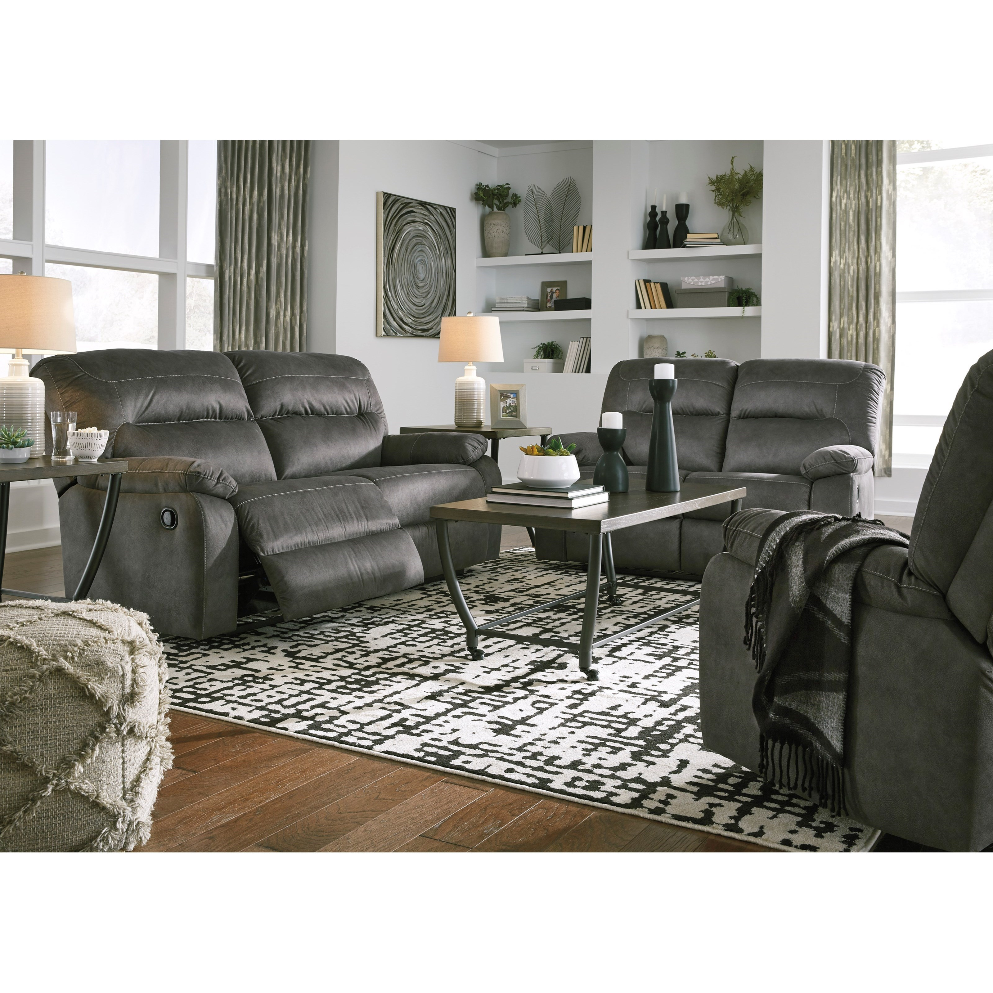 Bolzano Reclining Living Room Group by Benchcraft at Standard Furniture