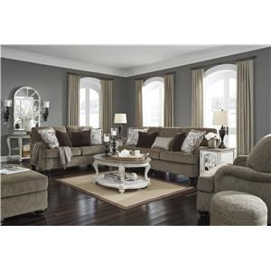 Brown Sofa, Chair and Ottoman Set