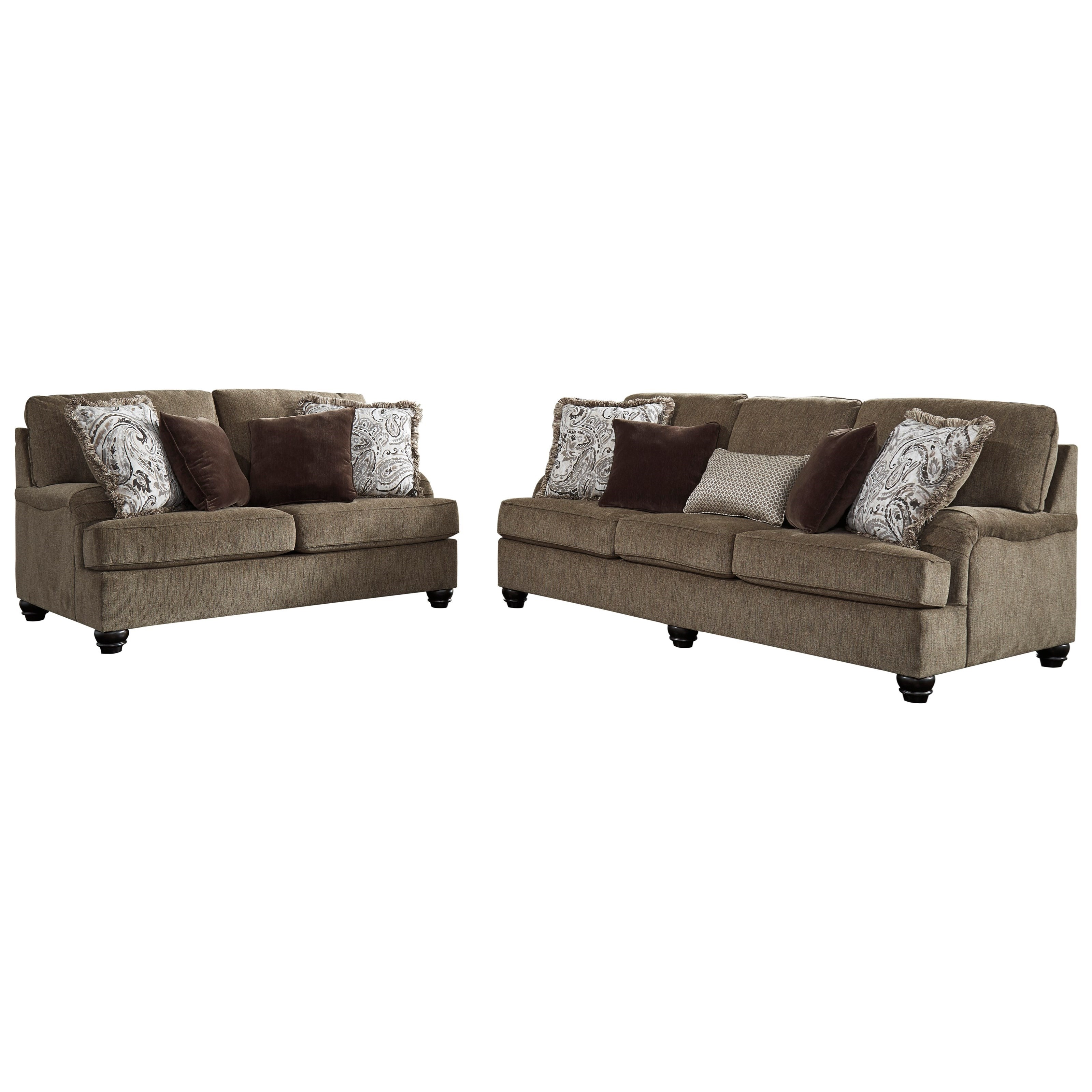 Braemar Stationary Living Room Group by Benchcraft at Zak's Warehouse Clearance Center